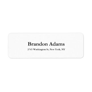 Unique Modern Elegant Plain Black & White Label