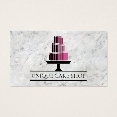 Bakery business cards business cards galore modern classy geometric cake on white marble business cards template reheart Gallery