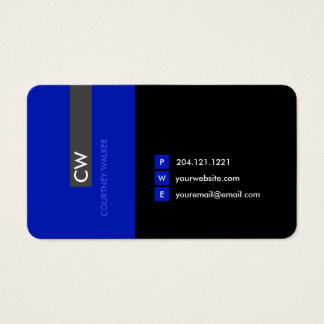 Unique, modern, green promotional business card