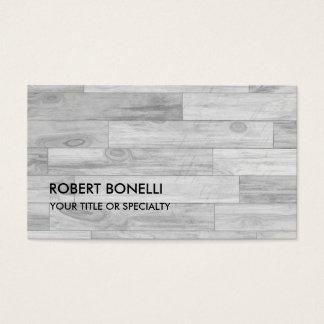 Unique Modern Grey Parquet Design Business Card