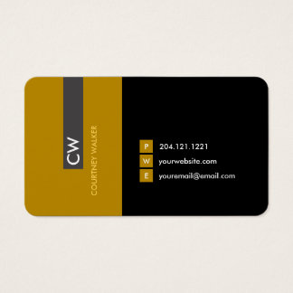 Unique, modern, orange, fascinating business card