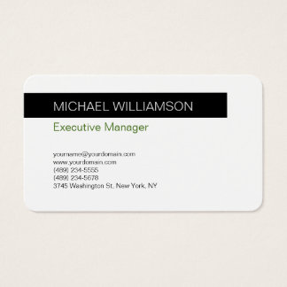 Unique Modern Professional Black White Business Card