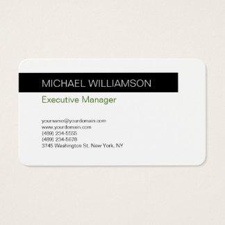 Unique Modern Professional Black White Business Card