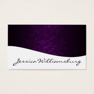 Unique Modern Professional Purple Business Cards