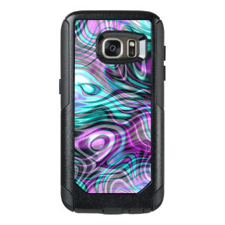 Unique Modern Stylish Marble Swirls Motif OtterBox Samsung Galaxy S7 Case