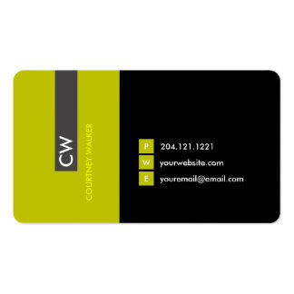 Unique modern yellow eye catching business card