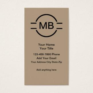 Unique Monogram Professional Business Cards