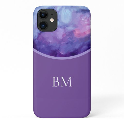 Unique Monogram Style Abstract iPhone 11 Case