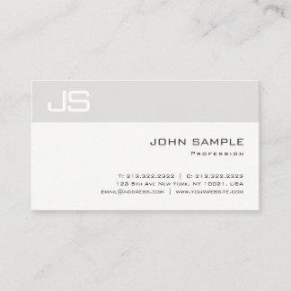Unique Monogrammed Elegant Clean Modern Plain Business Card