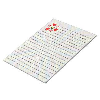 Unique mosaic colorful pattern note pad