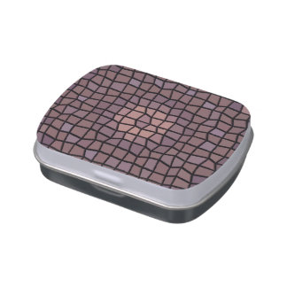 Unique mosaic pattern candy tins
