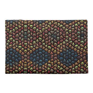 Unique mosaic tile travel accessory bags