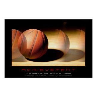 Unique Motivational Achievement Basketball Print