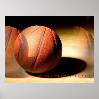 Unique Motivational Determination Basketball Print