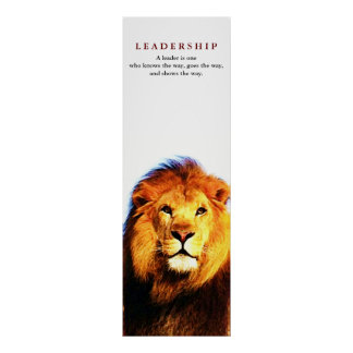 Unique Motivational Leadership Quote Lion Poster