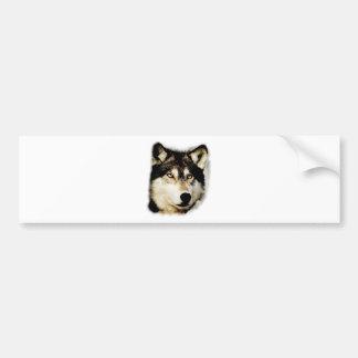 Unique Motivational Wolf Bumper Sticker