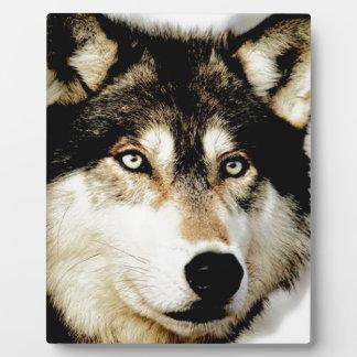 Unique Motivational Wolf Plaque