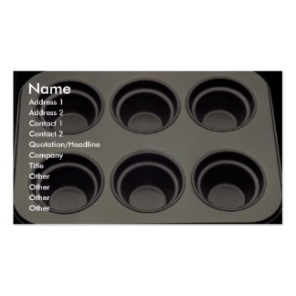 Unique Muffin pan Double-Sided Standard Business Cards (Pack Of 100)