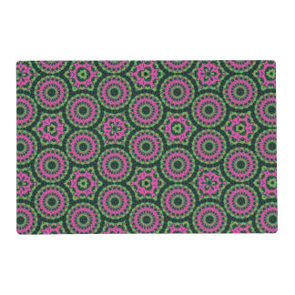 Unique multicolored abstract pattern placemat