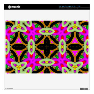 Unique multicolored pattern MacBook decal