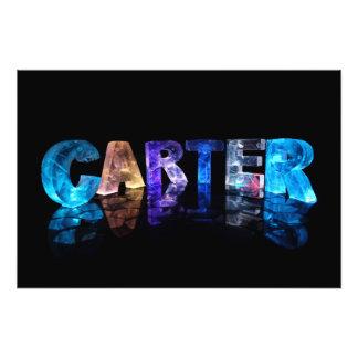 Unique Names - Carter in 3D Lights Photo Print