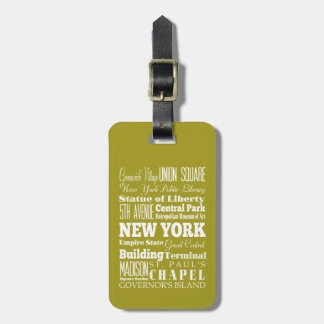 Unique New York, New York Gift Idea Travel Bag Tags