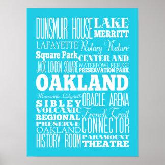 Unique Oakland, California Gift Poster