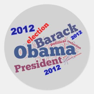 Unique Obama Re-Election Cloud Sticker