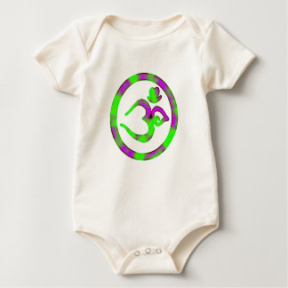 Unique Om Sign - Baby Yoga organic) Baby Bodysuit