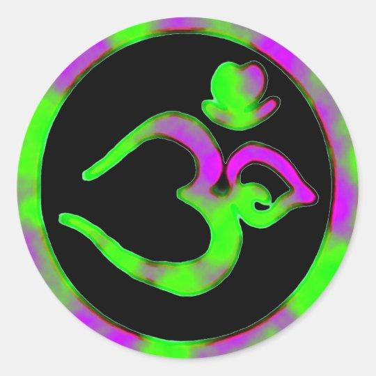 Unique Om Symbol - Yoga Sticker