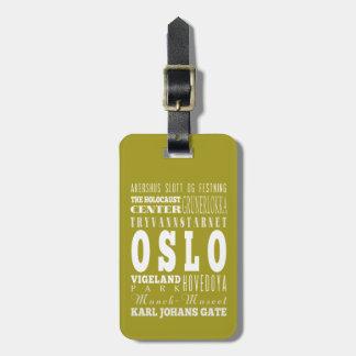 Unique Oslo, Norway Gift Idea Luggage Tag