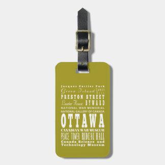 Unique Ottawa, Canada Gift Idea Tag For Bags