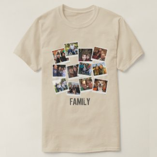 Unique Own Family Photo Frame Collage T-Shirt