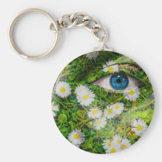 Unique Oxeye Daisy design on your cool gift Basic Round Button Keychain