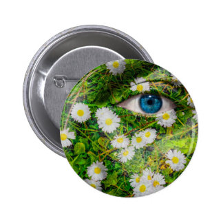 Unique Oxeye Daisy design on your cool gift Pinback Button