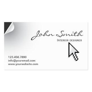 Unique Page Curl Interiors Business Card