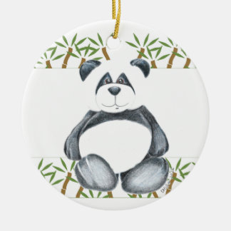 Unique Panda Bear Ceramic Ornament