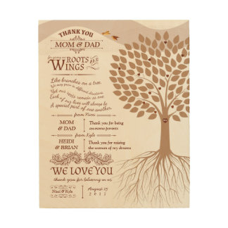 Unique Parents Thank You Gift from Bride and Groom Wood Wall Decor
