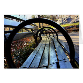 Unique Park Bench in Central Park, NYC Card
