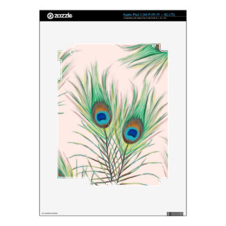 Unique Peacock Feathers Pattern Decals For iPad 3