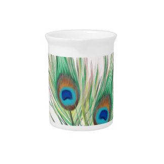 Unique Peacock Feathers Pattern Drink Pitchers