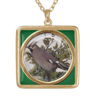 Unique Perched Bird Pendant