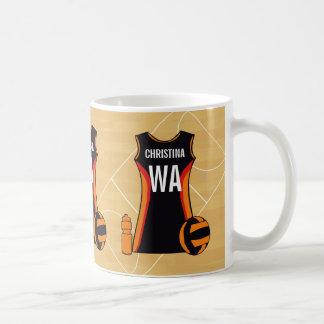 Unique Personalised Netball Coffee Mug