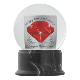 unique 40th anniversary gifts snow globe