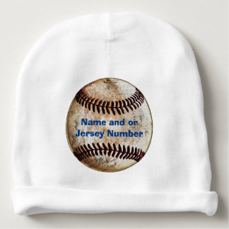 Unique Personalized Baby Hat with Vintage Baseball