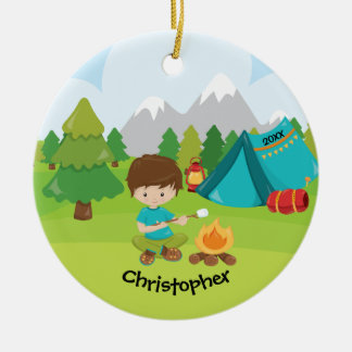 Unique Personalized Camping Christmas Ornament