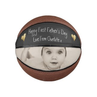 Unique Personalized First Fathers Day Basketball