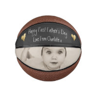 Unique Personalized First Fathers Day Mini Basketball