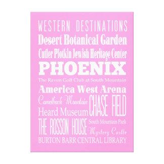 Unique Phoenix, Arizona Gift Canvas Print