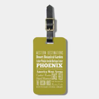 Unique Phoenix, Arizona Gift Idea Tag For Luggage